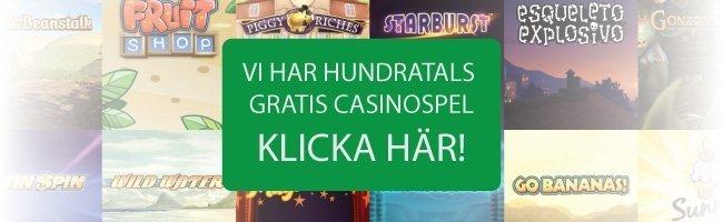 Gratis spelautomater och andra casinospel