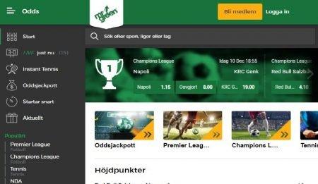 Mr Green odds & livebetting