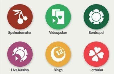 Paf Casino spelutbud