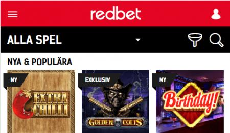 Redbet All Spel