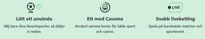 Casumo casino betting