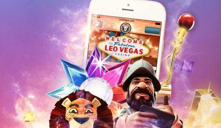 LeoVegas app på mobil