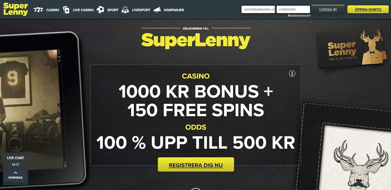 Super Lenny Recension – Få 150€ och 150 spinn GRATIS