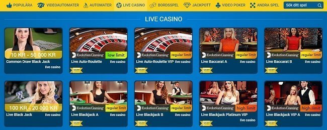 Karl Casino spel