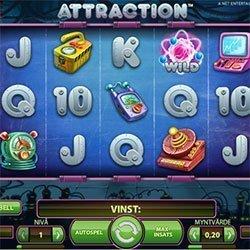 Gratis spinn i Attraction hos Karl Casino
