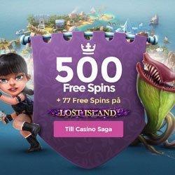 577 gratis spinn hos Casino Saga