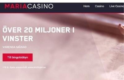 20 miljoner vinst vinstpott hos maria casino