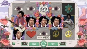 Jimi Hendrix - spelautomat från NetEnt