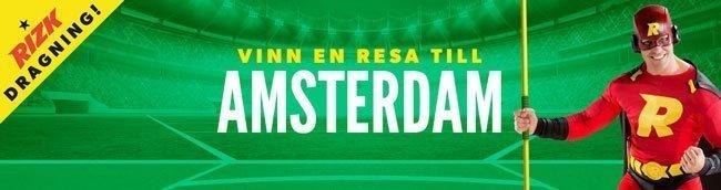 Rizk - vinn biljett till friidrotts-VM i Amsterdam
