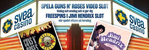 SveaCasino - 200 freespins på Jimi Hendrix