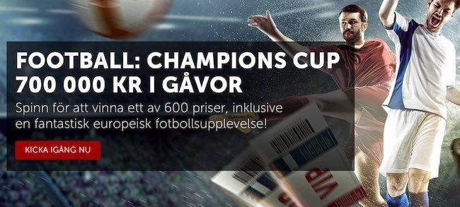Stor turnering på Betsafe och Football Champions Cup