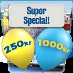 Förvandla 250 kronor till 1 000 och få 100 freespins hos SveaCasino
