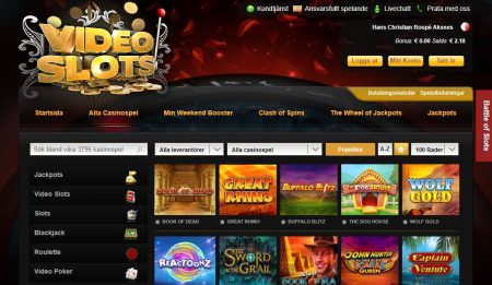 VideoSlots spelautomater