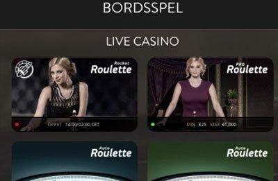 OvoCasino Live Casino