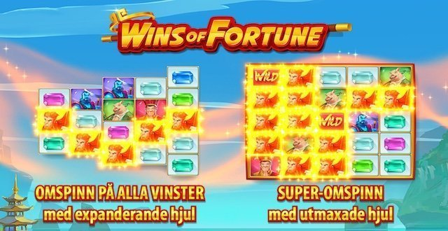 Wins of fortune slot funktioner