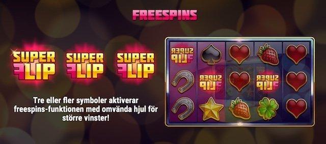 Super Flip slot freespins