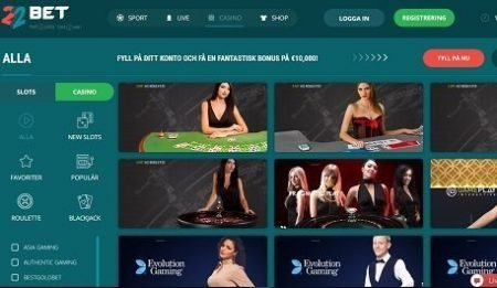 22bet live casino