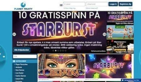 Planet Fruity casino bonus
