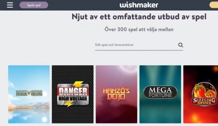 Spelutbud WIshmaker Casino