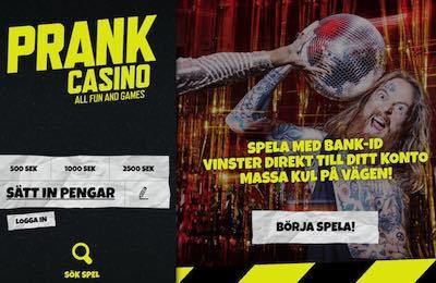 Prank Casino bankidentifiering