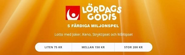 Lördagsgodis hos Svenska Spel