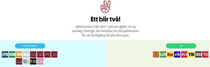 Sveriges nya Svenska Spel - ett blir två