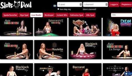 Slots Devil live casino lobby