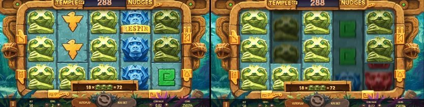Spelfunktioner Temple of Nudges