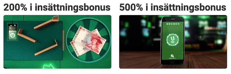 Unibet bonusar