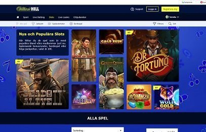 William Hill spelautomater