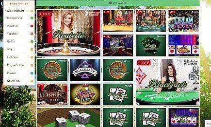 Mango live-casino