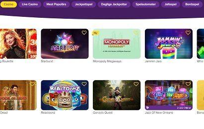 jalla casino spel-utbud