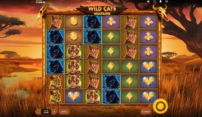 Wild Cats Multiline slot recension