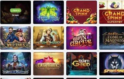 Spelklart casino spelutbud