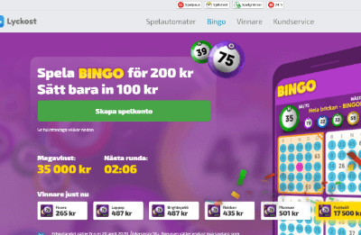 Lyckost bingo