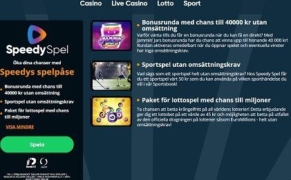 speedyspel casino bonus