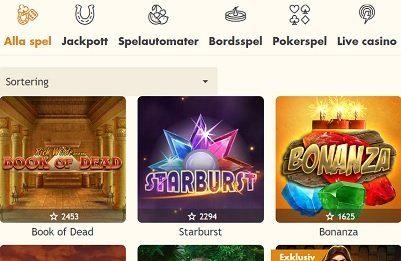 Bertil casino spelautomater