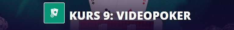 snabbkurs i videopoker