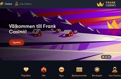 Frank casino hemsida med freespins bonus