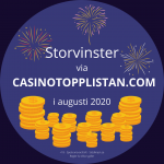 Storvinster via Casinotopplistan 2020