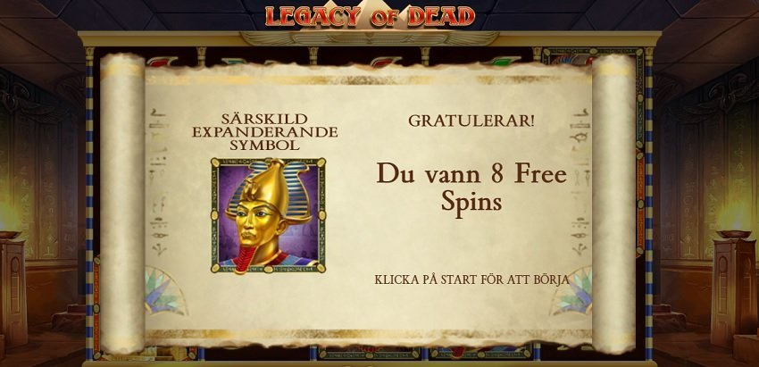 Legacy of Dead slot freespins