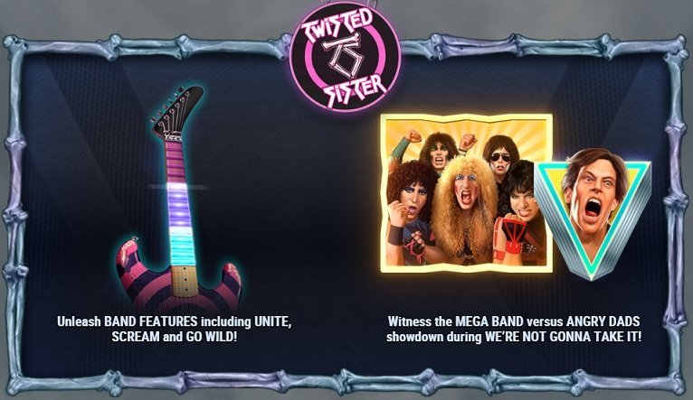 Twisted Sister slot funktioner
