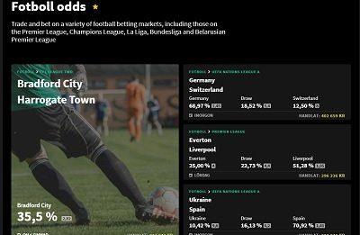 Smarkets fotboll odds