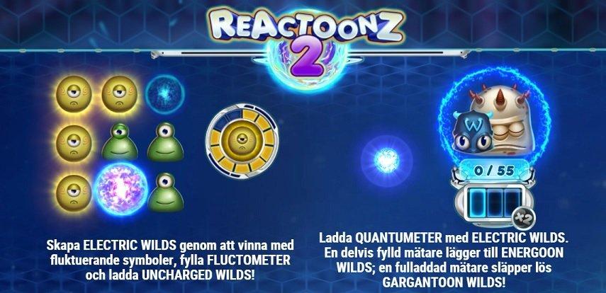 Reactoonz 2 slot funktioner