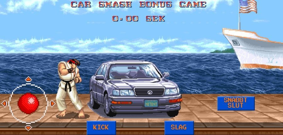 Street Fighter 2 Car Smash bonusrunda