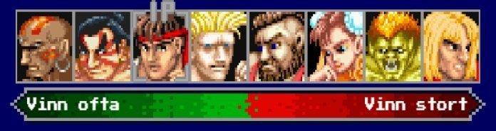 Street Fighter 2 - Figurer att välja mellan