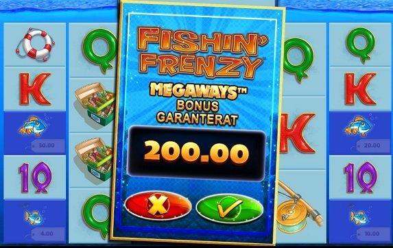 fishin frenzy insatser