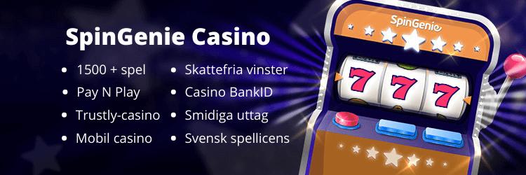 Spingenie casino fördelar