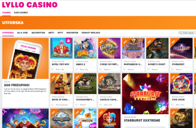 lyllo casino spelautomater