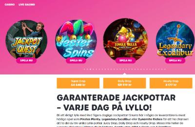 Lyllo casino jackpottar